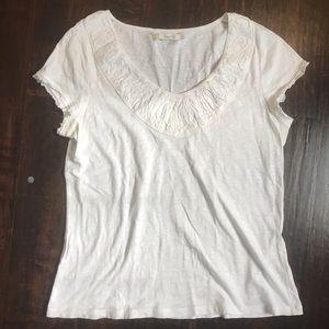 Boden White V Neck T Shirt
